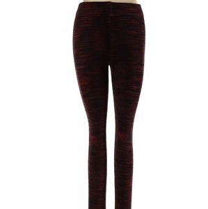 Free People Mid Rise Waist Leggings Black Orange